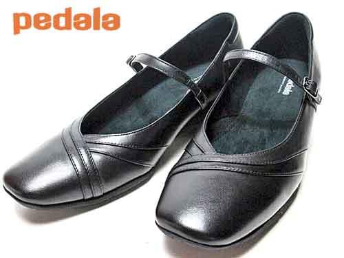 【あす楽】アシックス ペダラ asics PEDALA ストラップパンプス ブラック レディース 靴