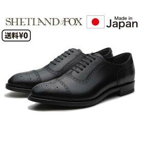 リーガル SHETLANDFOX シェットランドフォックス メンズビジネス セミブローグ 004F SF