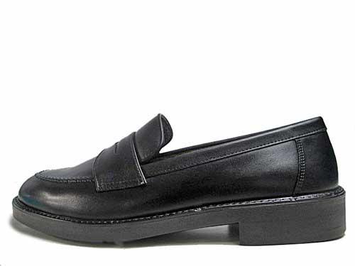 【あす楽】ムーンスター MoonStar ブラバス BRAVAS ローファー 通学靴 通勤靴 スクールシューズ ブラック【メンズ・靴】