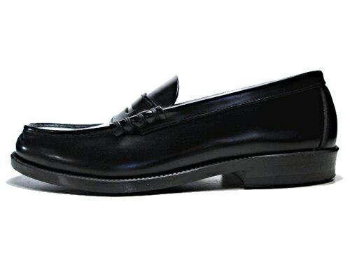 【送料無料】ハルタ HARUTA 牛革コインローファー ブラック【メンズ・靴】