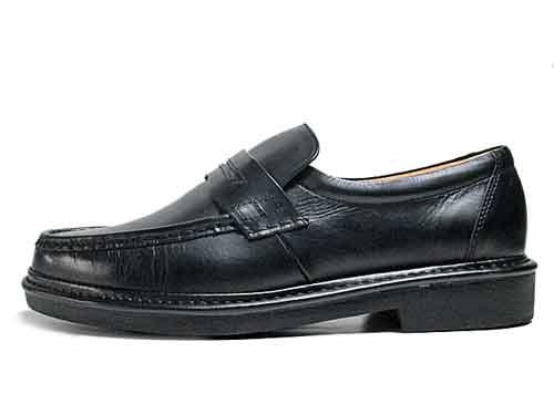 【あす楽】【送料無料】リナシャンテ バレンチノ Rinescante Valentiano ビジネスシューズ ローファータイプ スリッポン ブラック【メンズ・靴】