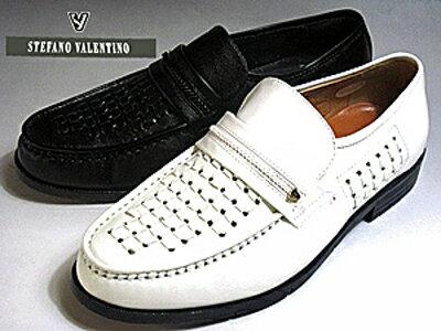 STEFANO VALENTINO ステファーノ バレンチノ メンズビジネスシューズ カラー:ブラック・ホワイト【靴】