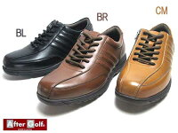 【あす楽】アフターゴルフAFTERGolfシューレースファスナー付きカジュアルシューズメンズ靴