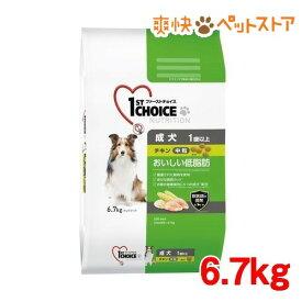 ファーストチョイス 成犬 1歳以上 おいしい低脂肪 中粒 チキン(6.7kg)【ファーストチョイス(1ST CHOICE)】[爽快ペットストア]