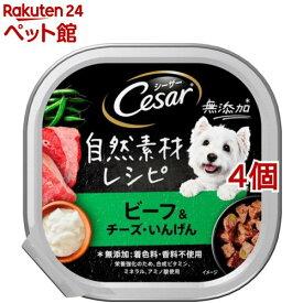 シーザー 自然素材レシピ ビーフ&チーズ・いんげん(85g*4個セット)【シーザー(ドッグフード)(Cesar)】[爽快ペットストア]