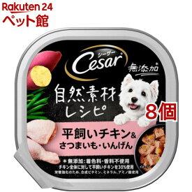 シーザー 自然素材レシピ 平飼いチキン&さつまいも・いんげん(85g*8個セット)【シーザー(ドッグフード)(Cesar)】[爽快ペットストア]