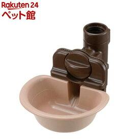 リッチェル ペット用 ウォーターディッシュ ブラウン Sサイズ(1コ入)[爽快ペットストア]