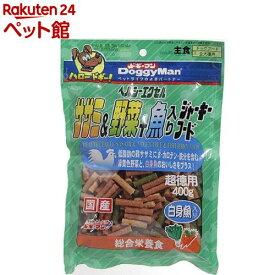 ドギーマン ヘルシーエクセル ササミ&野菜+魚入りジャーキーフード(400g)【ドギーマン(Doggy Man)】[爽快ペットストア]