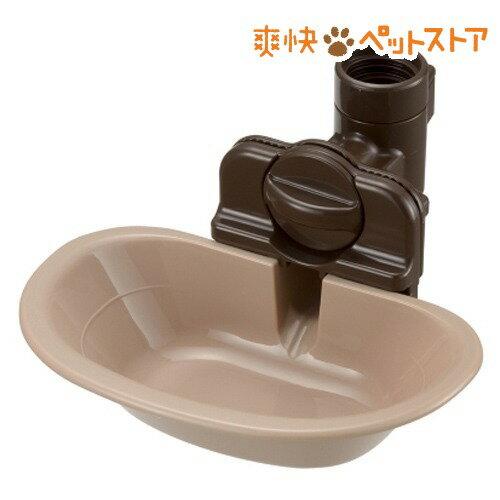 リッチェル ペット用 ウォーターディッシュ ブラウン Mサイズ(1コ入)[爽快ペットストア]