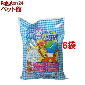猫砂 紙で出来た流せる猫砂(8L*6袋セット)【オリジナル 猫砂】[爽快ペットストア]