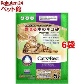 固まる木のネコ砂 キャッツベスト スマートペレット(5L*6袋セット)[爽快ペットストア]