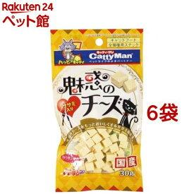 キャティーマン 魅惑のチーズ ササミ入り(30g*6コセット)【キャティーマン】[爽快ペットストア]