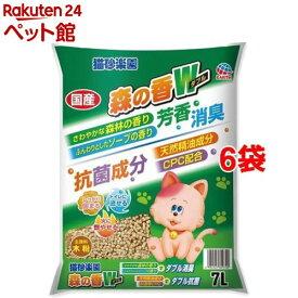 猫砂楽園 森の香ダブル(7L*6袋セット)【猫砂楽園】[爽快ペットストア]