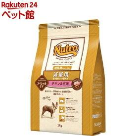 ニュートロ ナチュラル チョイス 減量用 超小型犬〜小型犬用 チキン&玄米(1kg)【ニュートロ】[爽快ペットストア]