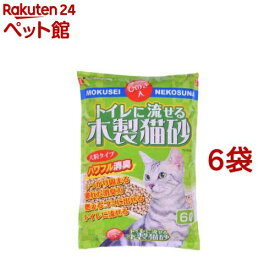 猫砂 常陸化工 流せる木製猫砂(6L*6コセット)[爽快ペットストア]