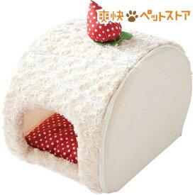 ロールケーキベッド いちごショートケーキ(1コ入)【PuChiko】[爽快ペットストア]