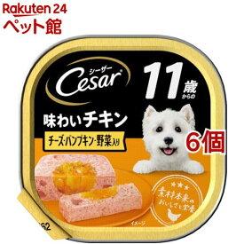 シーザー11歳からの味わいチキン チーズ・パンプキン・野菜入り(100g*6個セット)【d_cesar】【シーザー(ドッグフード)(Cesar)】[ドッグフード][爽快ペットストア]