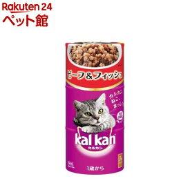 カルカン ハンディ缶 ビーフ&フィッシュ 1歳から(160g*3缶)【カルカン(kal kan)】[キャットフード][爽快ペットストア]