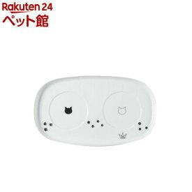 猫壱 ハッピーダイニング専用 食器トレー ダブル(1コ入)【猫壱】[爽快ペットストア]