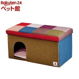 Porta ドッグハウス&スツール モザイク ワイド(1コ入)【ペティオ(Petio)】[爽快ペットストア]