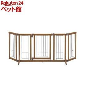 リッチェル ペット用木製おくだけドア付きゲート Mサイズ(1台)[爽快ペットストア]