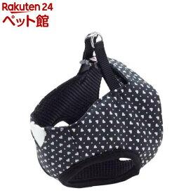ペティオ アルファッション ハートドットベストハーネス S ブラック(1コ入)【アルファッション(ARFashion)】[爽快ペットストア]