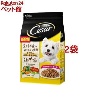 シーザー ドライ 成犬用 チキンと4種の農園野菜入り 超小粒(1.5kg*2袋セット)【シーザー(ドッグフード)(Cesar)】[爽快ペットストア]