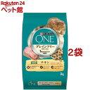 ピュリナ ワン キャット グレインフリー 穀物不使用 チキン 1歳からすべての年齢に(3kg*2袋セット)【qqu】【ピュリナ…