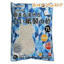 猫砂 クリーンミュウ ミュウサンド 固まる流せる白い紙製の砂(7L)【クリーンミュウ】[爽快ペットストア]