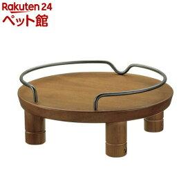 リッチェル ペット用木製テーブル シングル ブラウン(1コ入)[爽快ペットストア]