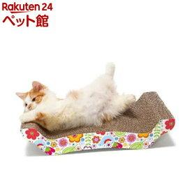 猫壱 バリバリ ベッド 花柄 M(1コ入)【猫壱】[爽快ペットストア]