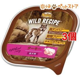 ニュートロ ワイルド レシピ 成犬用 ターキー トレイ(100g*3個セット)【ニュートロ】[爽快ペットストア]