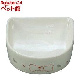 ペティオ 犬用陶器食器 メモリ付 ボーン(Mサイズ*1個入)【ペティオ(Petio)】[爽快ペットストア]
