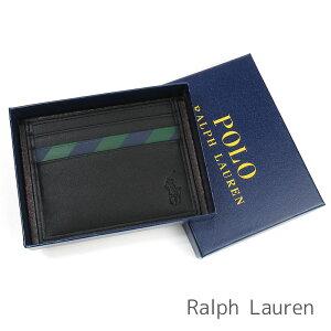 ポロ ラルフローレン Polo Ralph Lauren パスケース メンズ レディース ラルフ 定期入れ カードケース ラルフローレン専用箱付き ビッグポニー レザー ストライプ 【送料無料】 ブランド ラルフ