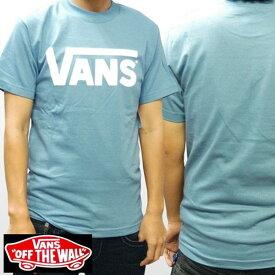 VANS バンズ メンズ Tシャツ ヴァンズ クラシック ロゴ スレート ホワイト 正規 商品 SK8 インポート ブランド ストリート HIPHOP ウェアー B系 服 ダンス ヒップホップ ファッション サーフ カジュアル ウェア セレカジ スタイル