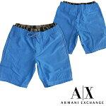A|XArmaniExchangeアルマーニエクスチェンジメンズ水着レイヤードブルーインナーメッシュ付きストレッチスイムウェアボードショーツパンツアメカジサーフセレカジインポートカジュアルスタイルファッション