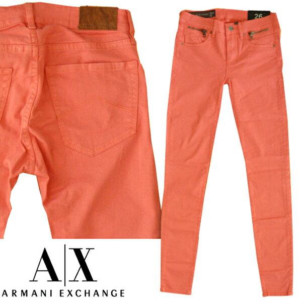 【セール】 A|X Armani Exchange アルマーニエクスチェンジ レディース J20 SUPER SKINNY ウォッシュピンク ストレッチ スキニー パンツ ジーンズ アメカジ サーフ セレカジ インポート カジュアル スタイル ファッション 正規
