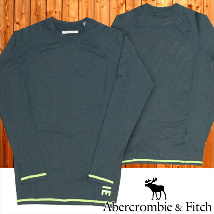 アバクロ Abercrombie&Fitch アバクロンビー&フィッチ メンズ スポーツウェア 長袖 Tシャツ ロンT ネイビー ランニング フィットネス アメカジ ブランド ファッション インポート カジュアル ヴィンテージ スタイル 正規 商品 114