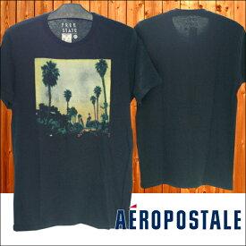 【セール】 エアロポステール メンズ Tシャツ ブラック PALMTREE インポート ファッション ブランド ストリート 西海岸 SURF サーフィン サーフ カジュアル アメカジ セレカジ ヴィンテージ スタイル 正規 商品