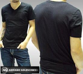 AGジーンズ Tシャツ メンズ Vネック ブラック 半袖 シャツ エージージーンズ AG Jeans 正規 アドリアーノ ゴールドシュミット 雑誌 掲載 LAセレブ カジュアル スタイル プレミアム デニム ブランド アメカジ セレカジ ジーンズ ハリウッドセレブ 愛用 ファッション