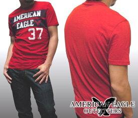 【セール】 アメリカンイーグル メンズ Tシャツ レッド American Eagle トップス 半袖 シャツ インポート ファッション ブランド ストリート サーフ カジュアル アメカジ ヴィンテージ スタイル 正規 商品