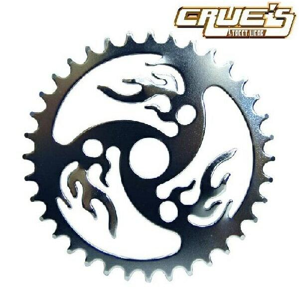 値下げしました! チェーンリング ファイヤー クローム 36T コンポーネント スプロケ クランク スプロケット 自転車 パーツ 自転車部品 ローチャリ ビーチクルーザー カスタム 改造 部品 ローライダー BMX MTB チョッパー ミニベロ ママチャリ サイクルパーツ