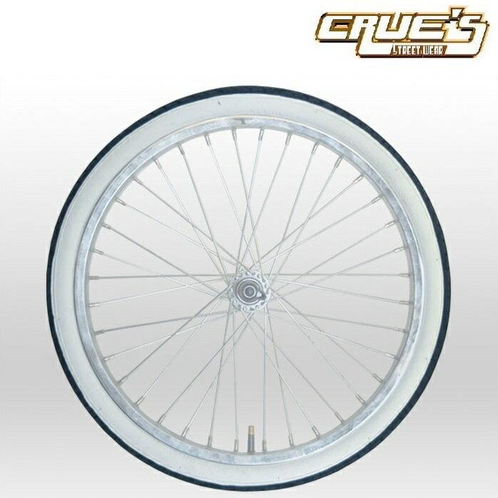 ホワイトリボン タイヤ 20インチ 20 x 1.75 自転車 パーツ 自転車部品 ローチャリ ビーチクルーザー カスタム 改造 部品 ローライダー BMX MTB チョッパー ミニベロ ママチャリ サイクルパーツ