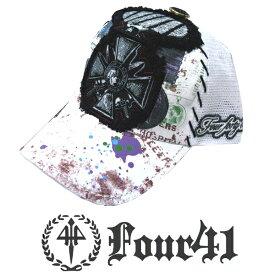Four41 Los Angeles フォーフォーティーワン キャップ ホワイト 016 インポート メンズ レディース 帽子 インポート セレブ セレカジ アメカジ ストリート サーフ LA セレブ Ed Hardy エドハーディー ファッション ROCK ロック スタイル 好きに◎