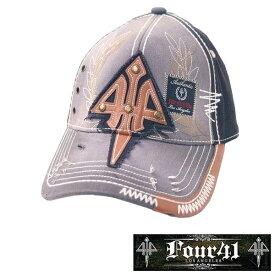 Four41 Los Angeles フォーフォーティーワン キャップ V.WASH ブラック 054 インポート メンズ レディース 帽子 インポート セレブ セレカジ アメカジ ストリート サーフ LA セレブ Ed Hardy エドハーディー ファッション ROCK ロック スタイル 好きに◎