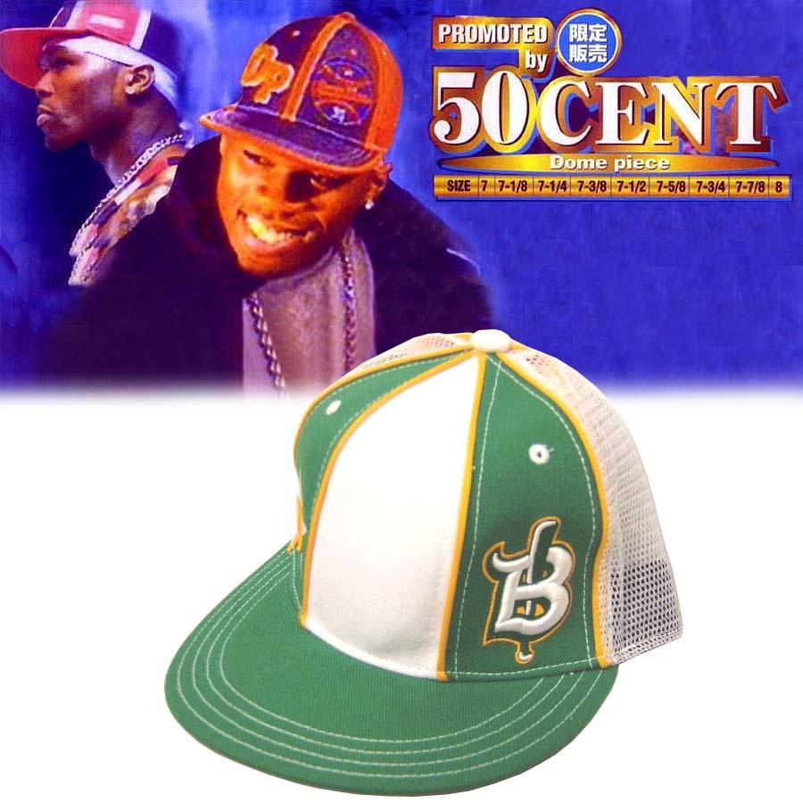 【セール】 50セント着用 Dome Piese Cap ドームピース キャップ グリーン メンズ レディース ストリート スタイル HIPHOP ファッション ヒップホップ ウェアー B系 New ERA NEWERA ニューエラ キャップ Gユニット 50Cent フィフティーセント ブランド 帽子