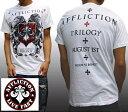 アフリクション メンズ Tシャツ ホワイト 半袖 シャツ Affliction safari サファリ LEON レオン オーシャンズ 雑誌 掲…