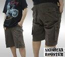 【セール】 American Rooster メンズ ミリタリー カーゴ ハーフパンツ ベルト付き 半ズボン パンツ ハーパン オリーブ 1 アメカジ ブランド サーフ インポート ファッション スト