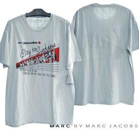 MARC BY MARC JACOBS マークバイマークジェイコブス メンズ 半袖 ダメージ Tシャツ ライトグレー MARCJACOBS マークジェイコブス セレブ セレカジ ファッション ブランド スタイル