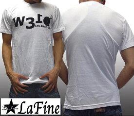【セール】 ラファイン メンズ Tシャツ ホワイト W310 Los Angeles LaFine 半袖 トップス シャツ 海外 セレブ 多数着用 インポート LAカジュアル ブランド アメカジ セレカジ ストリート スタイル LAセレブ ハリウッド セレブ ファッション